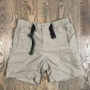 North Face Cargo Shorts Only Zip Off Khaki Hiking